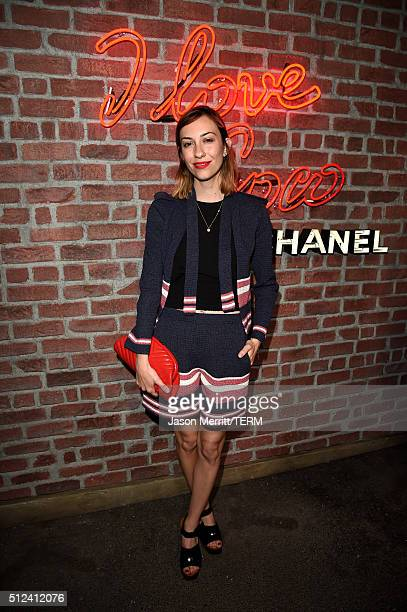 Gia Coppola attends the I Love Coco Backstage Beauty Lounge at Chateau Marmont's Bar Marmont on February 25 2016 in Hollywood California
