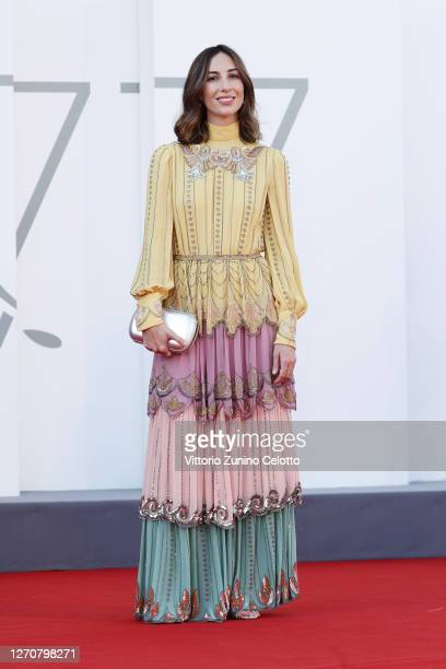 """Gia Coppola walks the red carpet ahead of the movie """"Mainstream"""" at the 77th Venice Film Festival on September 05, 2020 in Venice, Italy."""