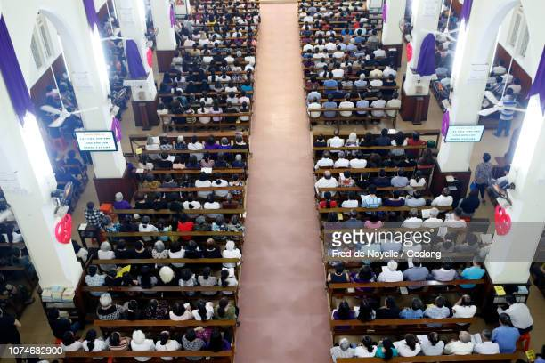 gia dinh church.  holy week. catholic mass.  good friday.  ho chi minh city. vietnam. - good friday stock pictures, royalty-free photos & images