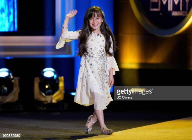 Gia Francesca Lopez speaks onstage during the 45th annual Daytime Emmy Awards at Pasadena Civic Auditorium on April 29 2018 in Pasadena California