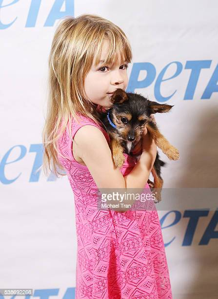 Gia Garcia attends the Los Angeles launch event for Prince's PETA song held at PETA on June 7 2016 in Los Angeles California