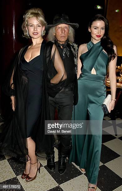Gia Genevieve James Goldstein and Emma Miller attend the Hunger Magazine Vivienne Westwood Paris Fashion Week Event celebrating the Vivienne...