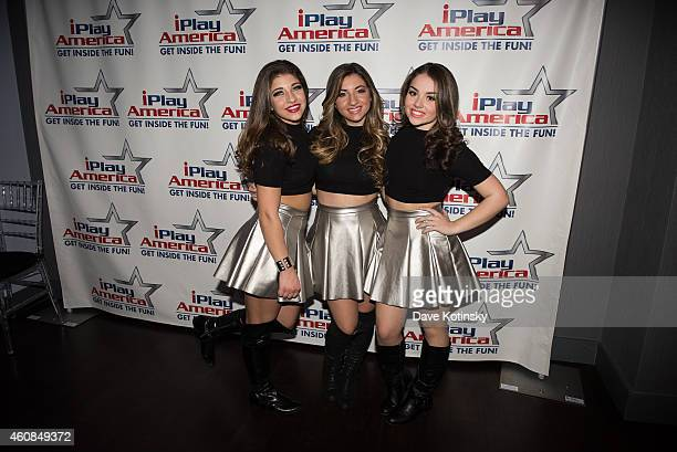 Gia Giudice, Alexa Maetta and Cristianna Cardinale of 3kt perform at iPlay America on December 26, 2014 in Freehold, New Jersey.