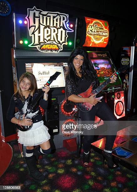 Gia Giudice and Teresa Giudice attend Audriana and Gabriella Giudices' birthday party at Space Odyssey on October 9 2011 in Englewood New Jersey