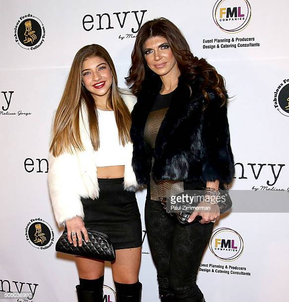 Gia Giudice and Teresa Giudice attend grand opening of envy by Melissa Gorga Boutique at envy by Melissa Gorga Boutique on January 14, 2016 in...