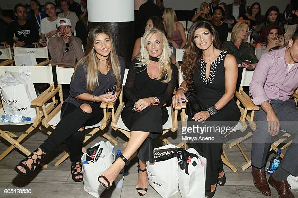 Gia Giudice, Lisa Fortunato and television personality, Teresa Giudice attend the Tumbler & Tipsy by Michael Kuluva fashion show during Style360 NYFW...