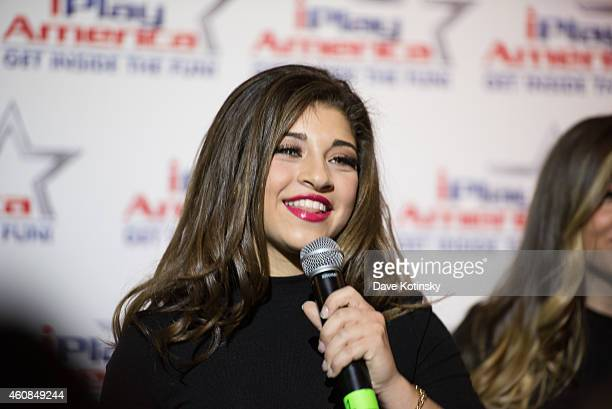 Gia Giudice performs with 3KT In Concert at iPlay America on December 26, 2014 in Freehold, New Jersey.