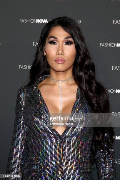 Gia Gunn arrives as Fashion Nova Presents Party With Cardi at Hollywood Palladium on May 8 2019 in Los Angeles California