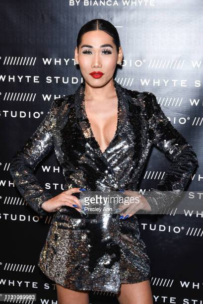 Gia Gunn attends Fashion Designer Bianca Whyte's Launch Of Her LondonBased Fashion Label Whyte Studio At Topshop at TopShop on February 20 2019 in...