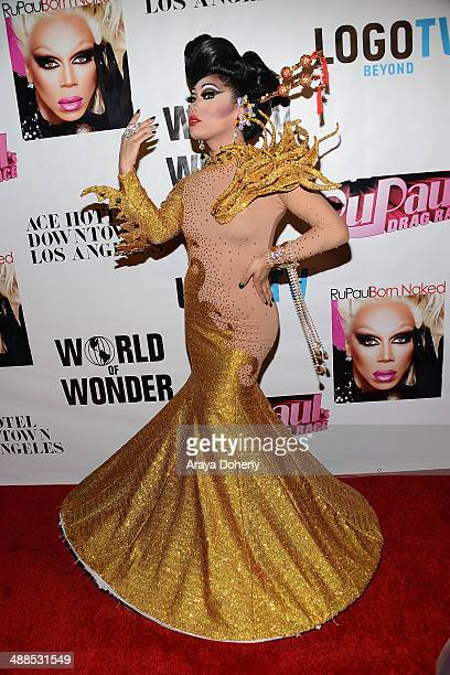 Gia Gunn attends Logo TV's 'RuPaul's Drag Race' season 6 reunion taping at The Theatre at Ace Hotel Downtown LA on May 6 2014 in Los Angeles...