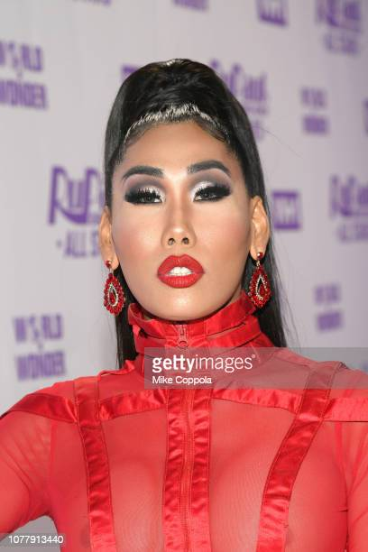 Gia Gunn attends RuPaul's Drag Race All Stars Meet The Queens at TRL Studios on December 05 2018 in New York City