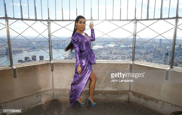 Gia Gunn from the cast of RuPaul's Drag Race All Stars visits the Empire State Building Hosts Cast Of RuPaul's Drag Race All Stars at The Empire...