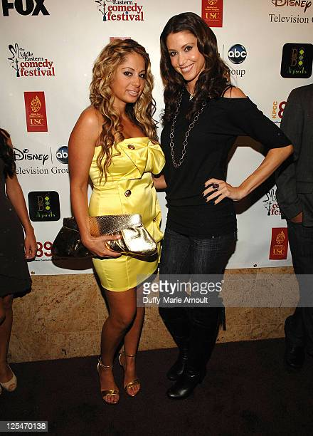 Gia Khay and Shannon Elizabeth attend the 2nd Annual Middle Eastern Comedy Festival Awards Ceremony at The Laugh Factory on October 4 2010 in West...