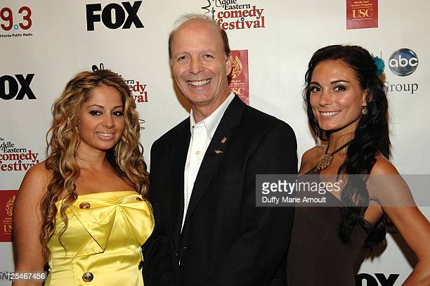 Gia Khay Dan Fanelli and Jessica Sylvia attend the 2nd Annual Middle Eastern Comedy Festival Awards Ceremony at The Laugh Factory on October 4 2010...