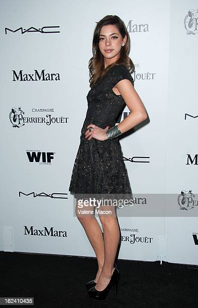 Gia Mantegna attends the 6th Annual Women In Film PreOscar Party hosted by Perrier Jouet MAC Cosmetics and MaxMara at Fig Olive Melrose Place on...