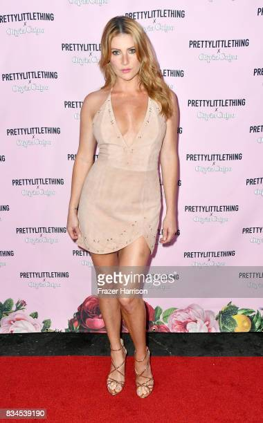 Gia Marie attends PrettyLittleThing X Olivia Culpo Launch at Liaison Lounge on August 17 2017 in Los Angeles California
