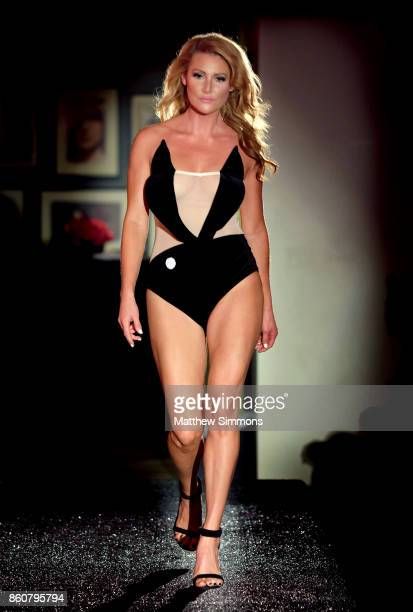 Gia Marie walks the runway for Yandy's Annual Halloween Fashion Show at Playboy World Headquarters on October 12 2017 in Beverly Hills California