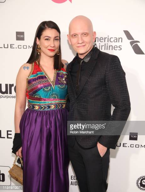 Gia Olimp and Anthony Carrigan attend 27th Annual Elton John AIDS Foundation Academy Awards Viewing Party Celebrating EJAF And The 91st Academy...