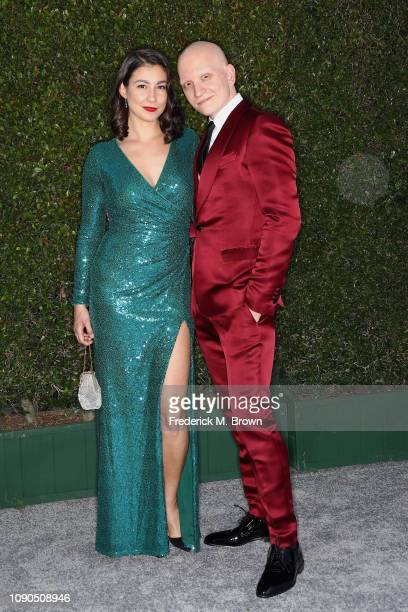 Gia Olimp and Anthony Carrigan attend the 25th Annual Screen ActorsGuild Awards at The Shrine Auditorium on January 27 2019 in Los Angeles...