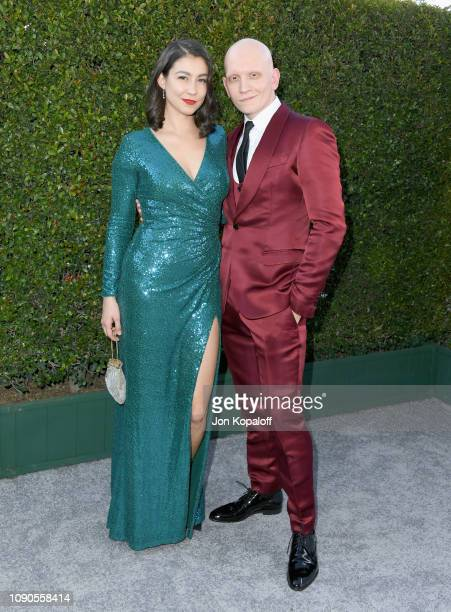 Gia Olimp and Anthony Carrigan attend the 25th Annual Screen ActorsGuild Awards at The Shrine Auditorium on January 27 2019 in Los Angeles California