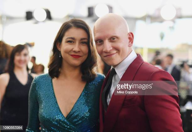 Gia Olimp and Anthony Carrigan attends the 25th Annual Screen ActorsGuild Awards at The Shrine Auditorium on January 27 2019 in Los Angeles...