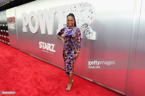 Gia Peppers attends the Starz Power The Fifth Season NYC Red Carpet Premiere Event After Party on June 28 2018 in New York City