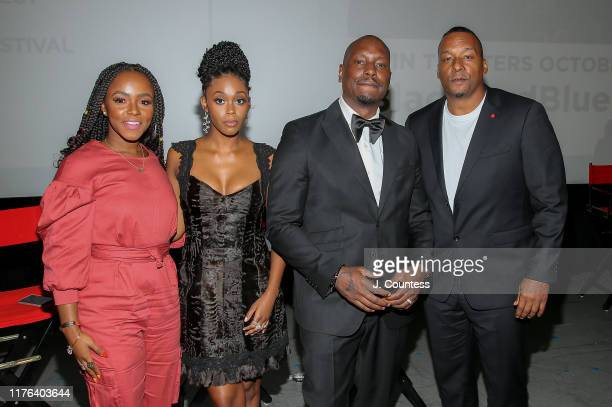 Gia Peppers Nafessa Williams Tyrese Gibson and Deon Taylor pose for a photo at the premiere of Black and Blue on day four of the 2019 Urban World...