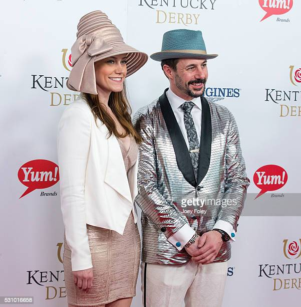 Gia SanAngelo and chef Johnny Iuzzini attends the 142nd Kentucky Derby at Churchill Downs on May 07 2016 in Louisville Kentucky