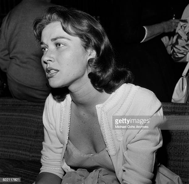 Gia Scala attends Federico Fellini cocktail party in Los AngelesCA