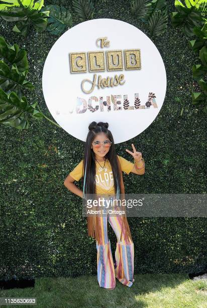 Gia Zuniga arrives for Clubhouse Kidchella held at Pershing Square on April 6 2019 in Los Angeles California