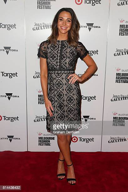Giaan Rooney arrives ahead of the Jean Paul Gaultier x Target Launch during Melbourne Fashion Festival on March 9 2016 in Melbourne Australia
