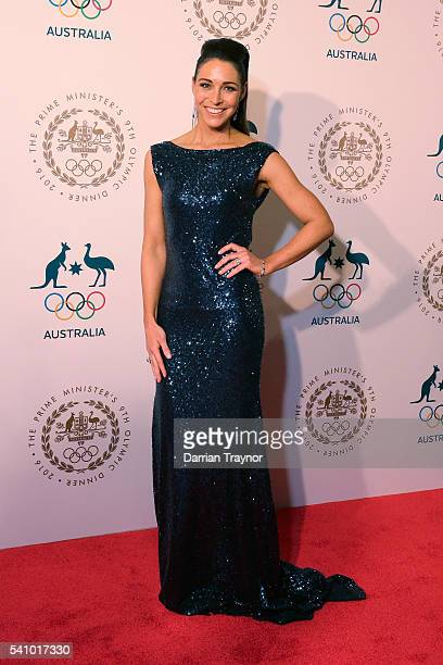 Giaan Rooney arrives at the Prime Minister's Olympic Dinner at The Melbourne Convention and Exhibition Centre on June 18 2016 in Melbourne Australia