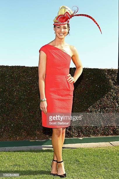 Giaan Rooney attends Caulfield Guineas Day at Caulfield Racecourse on October 9 2010 in Melbourne Australia