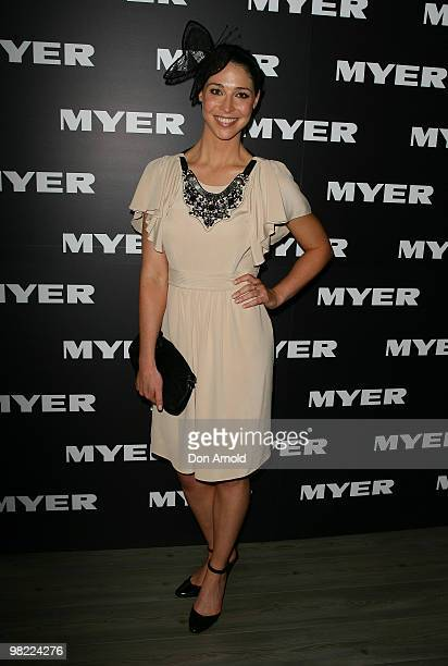 Giaan Rooney attends Golden Slipper Day at the Rosehill Gardens on April 3 2010 in Sydney Australia