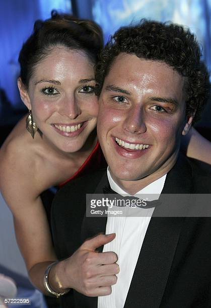Giaan Rooney poses with her partner during the Grand Prix Ball on day two of the Australian Formula One Grand Prix at the Crown Palladuim March 31...
