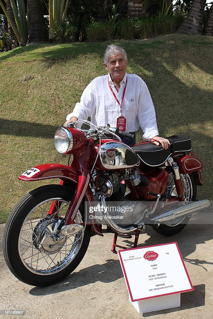 Giacomo Agostini during Cartier 'Travel With Style' Concours 2013 Opening at Taj Lands End on February 9, 2013 in Mumbai, India.