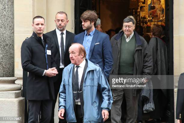 Giacomo Belmondo attends the actor Charles Gerard's Funerals at SaintJeanBaptiste Armenian Apostolic Cathedral in Paris on September 26 2019 in Paris...