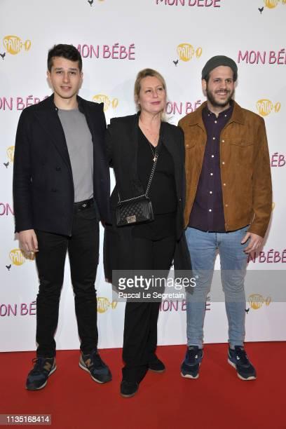 Giacomo Belmondo Luana Belmondo and Alessandro Belmondo attend Mon Bebe Paris Premiere At Cinema Gaumont on March 11 2019 in Paris France