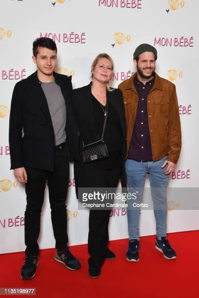 Giacomo Belmondo Luana Belmondo and Alessandro Belmondo attend Mon Bebe Paris Premiere at Cinema Gaumont Opera on March 11 2019 in Paris France