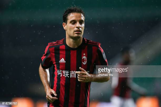 Giacomo Bonaventura of AC Milan controls the ball at University Town during the 2017 International Champions Cup football match between AC milan and...