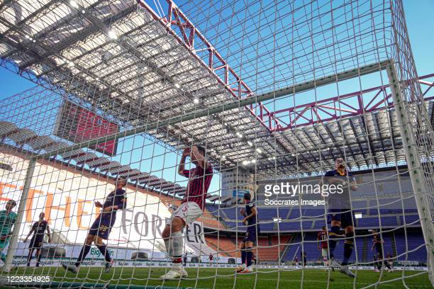 Giacomo Bonaventura of AC Milan during the Italian Serie A match between AC Milan v AS Roma at the San Siro on June 28, 2020 in Milan Italy