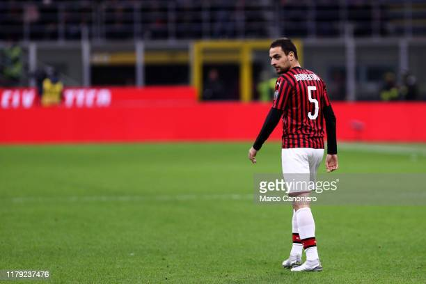 Giacomo Bonaventura of Ac Milan during the the Serie A match between Ac Milan and Spal. Ac Milan wins 1-0 over Spal.