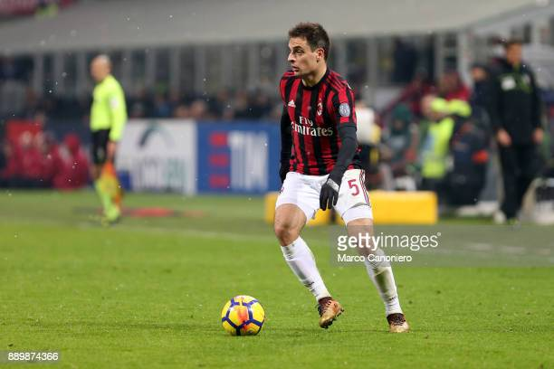Giacomo Bonaventura of Ac Milan in action during the Serie A football match between AC Milan and Bologna Fc Ac Milan wins 21 over Bologna Fc