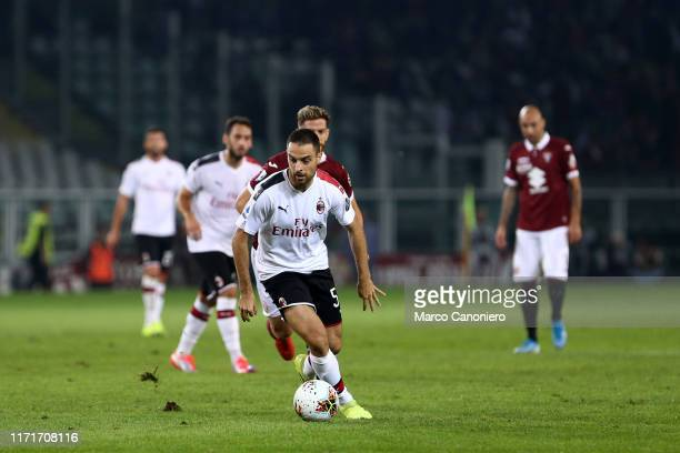 Giacomo Bonaventura of Ac Milan in action during the Serie A match between Torino Fc and Ac Milan. Torino Fc wins 2-1 over Ac Milan.