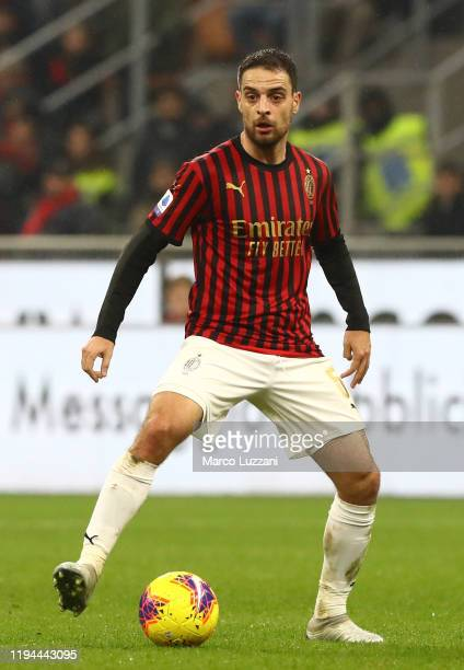 Giacomo Bonaventura of AC Milan in action during the Serie A match between AC Milan and US Sassuolo at Stadio Giuseppe Meazza on December 15, 2019 in...