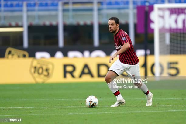 Giacomo Bonaventura of Ac Milan in action during the Serie A match between Ac Milan and Parma Calcio. Ac Milan wins 3-1 over Parma Calcio.