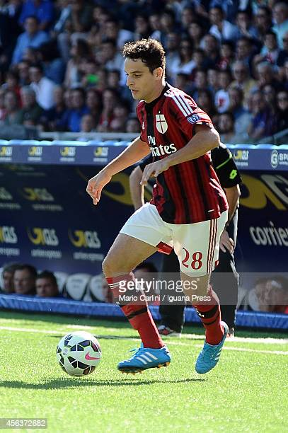 Giacomo Bonaventura of AC Milan in action during the Serie A match between AC Cesena and AC Milan at Dino Manuzzi Stadium on September 28 2014 in...