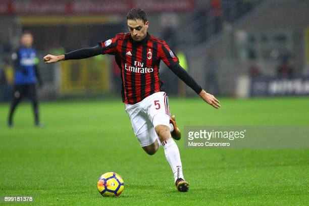 Giacomo Bonaventura of Ac Milan in action during the Tim Cup football match between AC Milan and Fc Internazionale Ac Milan wins 10 over Fc...