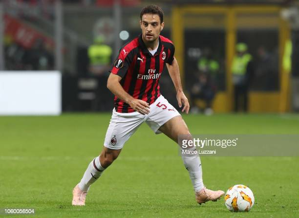 Giacomo Bonaventura of AC Milan in action during the UEFA Europa League Group F match between AC Milan and Real Betis at Stadio Giuseppe Meazza on...