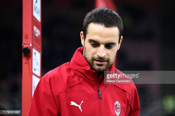 Giacomo Bonaventura of Ac Milan looks on before during the the Serie A match between Ac Milan and Spal. Ac Milan wins 1-0 over Spal.